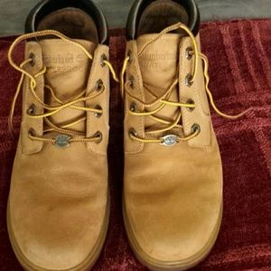 Timberland waterproof leather work boots